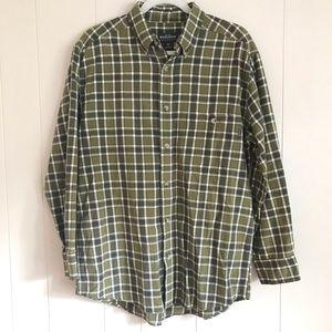 VTG Woolrich Dill Gingham Check Green Plaid Shirt